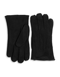 Ugg Shearling Lined Suede Gloves Red