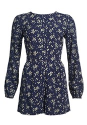 Superdry Gathered Bell Sleeve Playsuit Navy