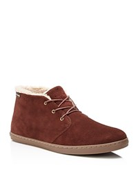 Cole Haan Pinch Weekender Faux Shearling Chukka Boots Chestnut Suede