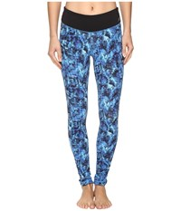 New Balance Premium Performance Tight Print Pants Majestic Feather Camo Women's Casual Pants Blue
