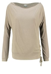 Khujo Adra Long Sleeved Top Sattelite Grey