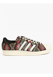 Adidas Men's Navajo Print Shelltoe Leather Sneakers