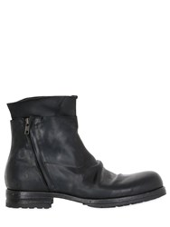 Shoto Washed Horse Leather Ankle Boots