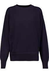 Isabel Marant Fiji Cashmere Silk And Cotton Blend Sweater Dark Purple