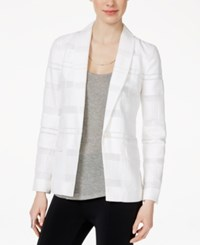 Armani Exchange Long Sleeve Textured Blazer Solid White