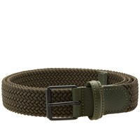 Andersons Anderson's Slim Woven Textile Belt Green