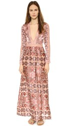 For Love And Lemons Juliet Maxi Dress Maroon