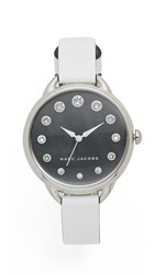 Marc Jacobs Betty Watch Silver Black White