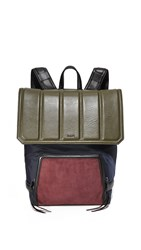 Dkny Backpack Navy Olive Oxblood