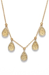 Anna Beck 'Gili' Frontal Necklace Gold Silver