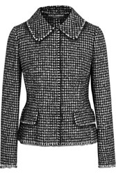 Dolce And Gabbana Houndstooth Tweed Jacket Black