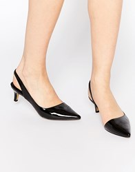 Ravel Sling Mid Heeled Shoes Black