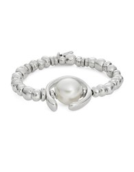Uno De 50 Oh Oh Oh Beaded Charm Bracelet Silver