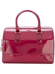 Furla Large 'Candy Boston' Tote Pink And Purple