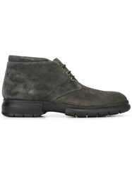 Salvatore Ferragamo Rubber Sole Desert Boots Grey