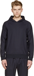Paul Smith Navy Light Wool Side Zip Hoodie