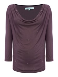 Dickins And Jones Cowl Neck Top With Embellishment Grey