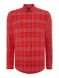 Duck And Cover Cleef Long Sleeve Check Shirt Red