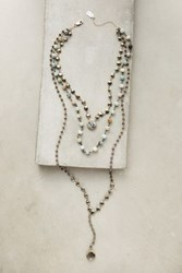 Anthropologie Layered Gem Necklace Turquoise