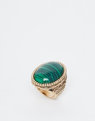 New Look Marble Stone Ring Mintgreen