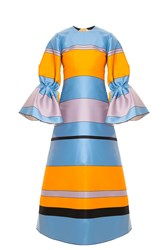 Roksanda Ilincic Eden Striped Dress Orange