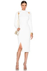 Jonathan Simkhai Quilted Turtleneck Dress In White