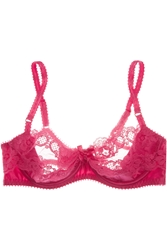 Agent Provocateur Lacy Silk Satin And Lace Balconette Bra