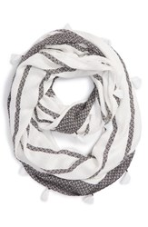 David And Young Women's Stripe Infinity Scarf