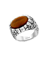 Effy Gento Tiger Eye And Sterling Silver Ring