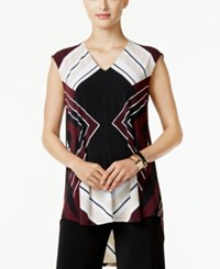 Alfani Printed High Low Hem Tunic Only At Macy's Graphic Diamond