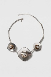 Topshop Layered Flower Necklace Mixed Metal