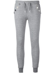 Zoe Karssen Embellished Pockets Sweatpants Grey
