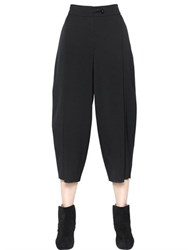 Emporio Armani Stretch Wool Cropped Pants