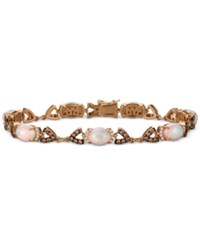 Le Vian Chocolatier Opal 4 1 5 Ct. T.W. And Diamond 1 1 2 Ct. T.W. Link Bracelet In 14K Rose Gold