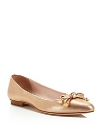 Kate Spade New York Emma Metallic Bow Flats Rose Gold