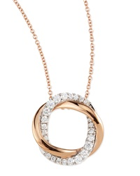 18K Pink And White Mini Halo Diamond Pendant Necklace Frederic Sage