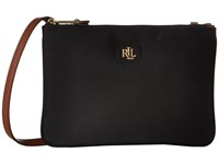 Lauren Ralph Lauren Tara Crossbody Black Cross Body Handbags