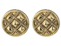 House Of Harlow Phoebe Quilt Button Earrings Gold Earring