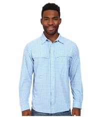 Mountain Khakis Skiff Shirt Bahama Blue Mutli Men's Long Sleeve Button Up
