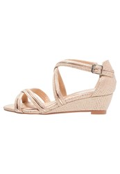 Evans Maisie Wedge Sandals Cream Beige