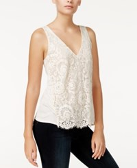Rachel Roy Lace Front Tank Top Only At Macy's Almond Milk