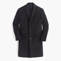 J.Crew Crosby Topcoat In Italian Wool Cashmere Hthr Charcoal