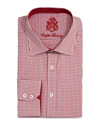 English Laundry Mini Check Dress Shirt Red
