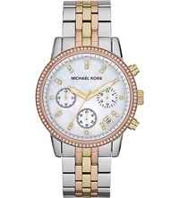 Michael Kors Mk5650 Ritz Womens Quartz Watch Stainless Steel