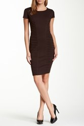 Insight Ribbed Detail Dress Brown