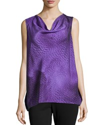 Escada Sleeveless Cowl Neck Top Iris Purple