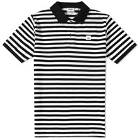 Acne Studios Kolby Stripe Polo Black