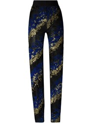 Antonio Berardi Flocked Lace Slim Fit Trousers Black