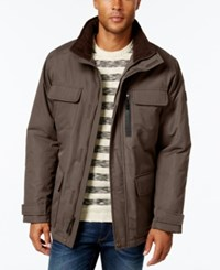 London Fog Big And Tall Military Puffer Coat Khaki Navy