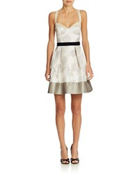 Abs By Allen Schwartz Floral Sweetheart Fit And Flare Sand